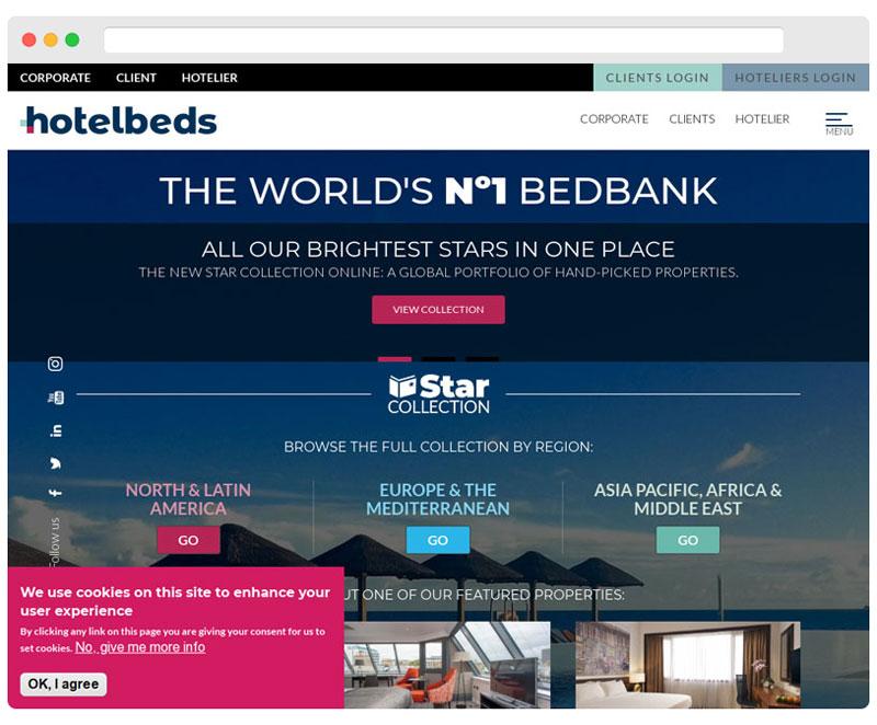 hotelbeds.com homepage