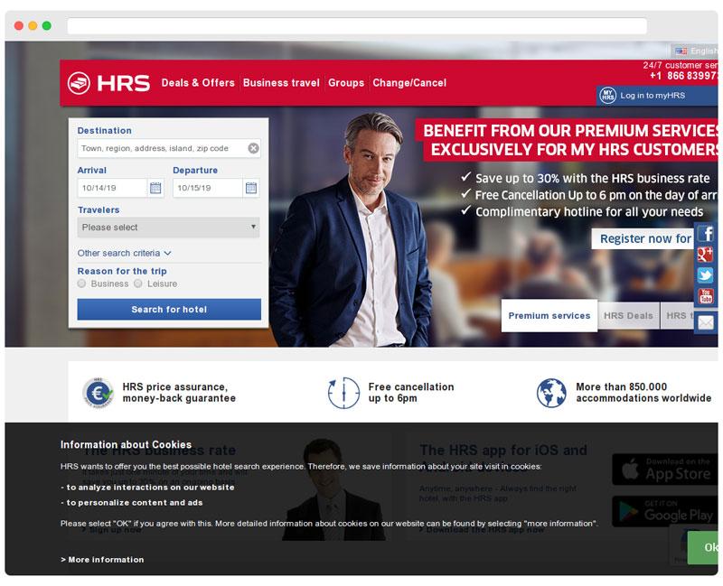hrs.com homepage